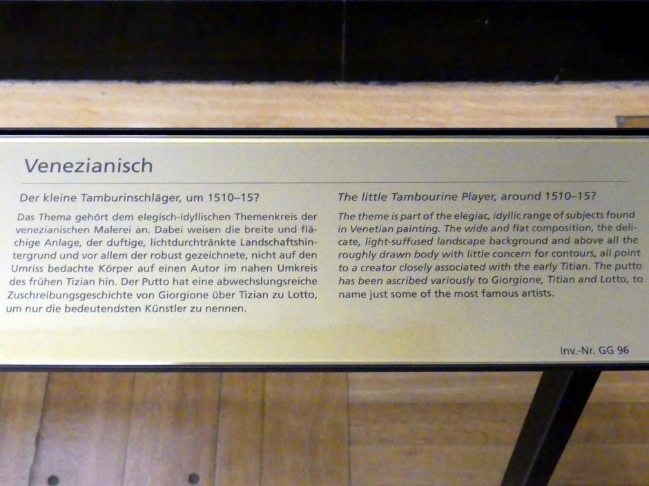 Der kleine Tamburinschläger, um 1510 - 1515, Bild 2/2