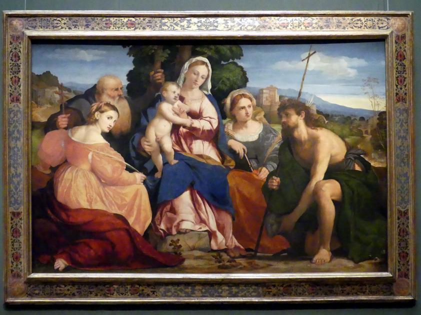 Jacopo Palma il Vecchio (Jacomo Nigretti de Lavalle): Maria mit Kind und Heiligen, um 1520 - 1522