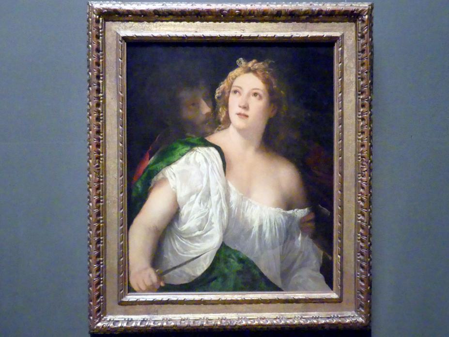 Tiziano Vecellio (Tizian): Lukrezia und ihr Gemahl, um 1515, Bild 1/2