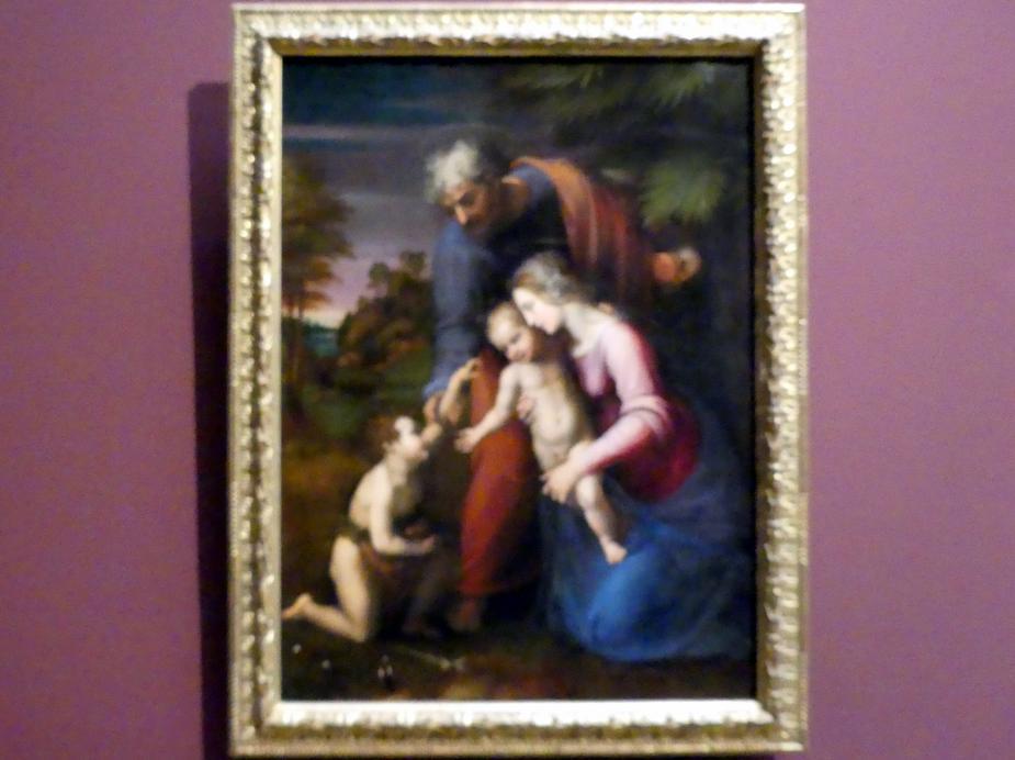 Raffaello Santi (Raffael): Heilige Familie mit dem kleinen Johannes, um 1513 - 1514