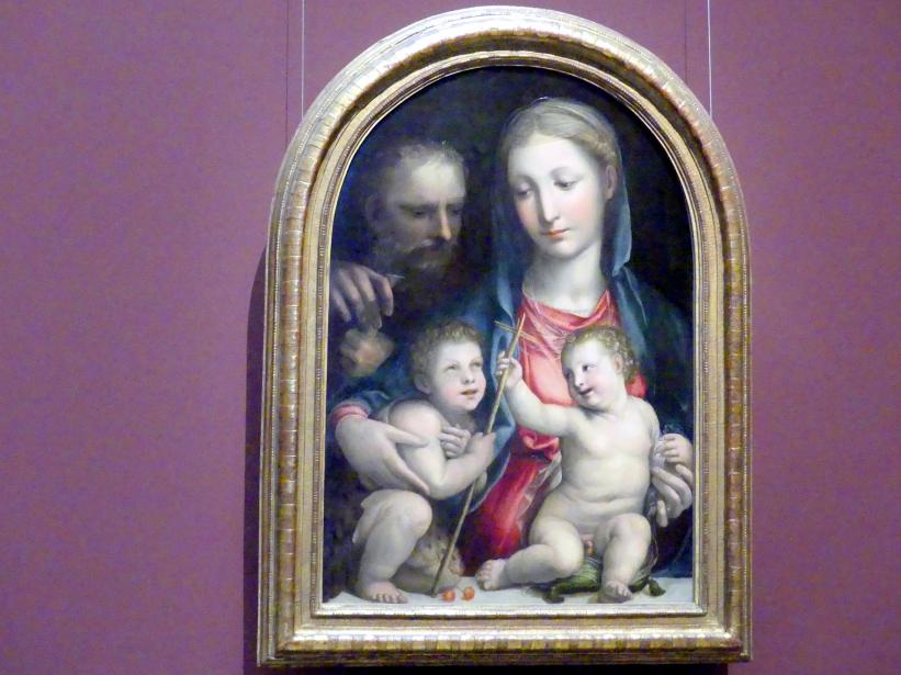 Il Sodoma (Giovanni Antonio Bazzi): Hl. Familie mit Johannesknaben, um 1520 - 1530, Bild 1/2