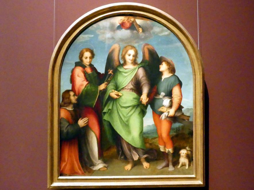 Andrea del Sarto: Erzengel Raffael mit Tobas, hl. Laurentius und dem Stifter Leonardo di Lorenzo Morelli, 1512
