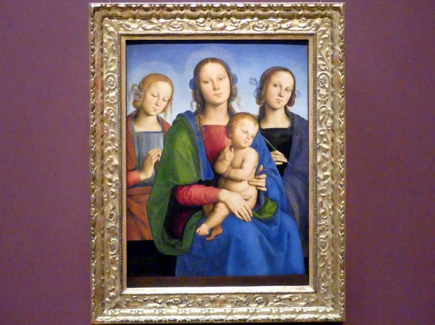 Pietro Perugino (Pietro di Cristoforo Vannucci): Maria mit Kind und den Hll. Rosa (?) und Katharina (?), um 1493 - 1495