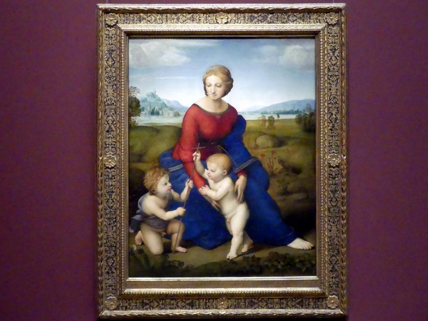 Raffaello Santi (Raffael): Die Madonna im Grünen, um 1505 - 1506