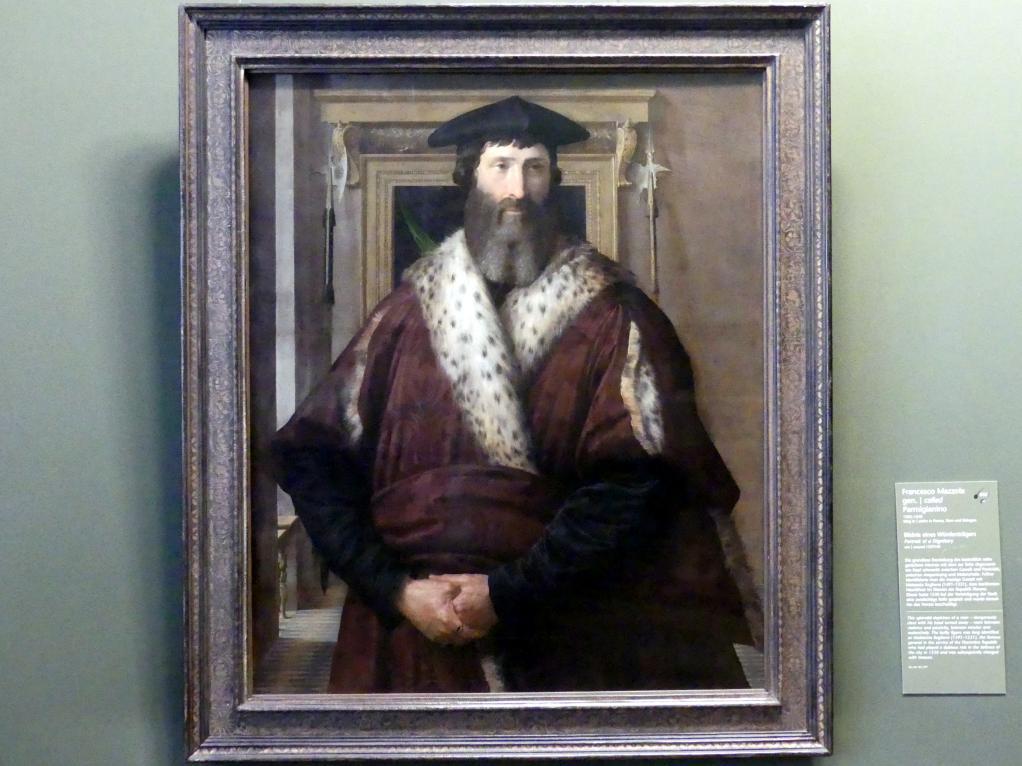 Parmigianino (Girolamo Francesco Maria Mazzola): Bildnis eines Würdenträgers, um 1537 - 1540