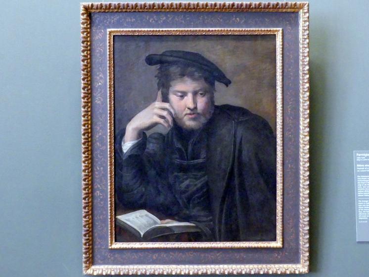 Parmigianino (Girolamo Francesco Maria Mazzola): Bildnis eines Mannes mit Buch, um 1525 - 1526