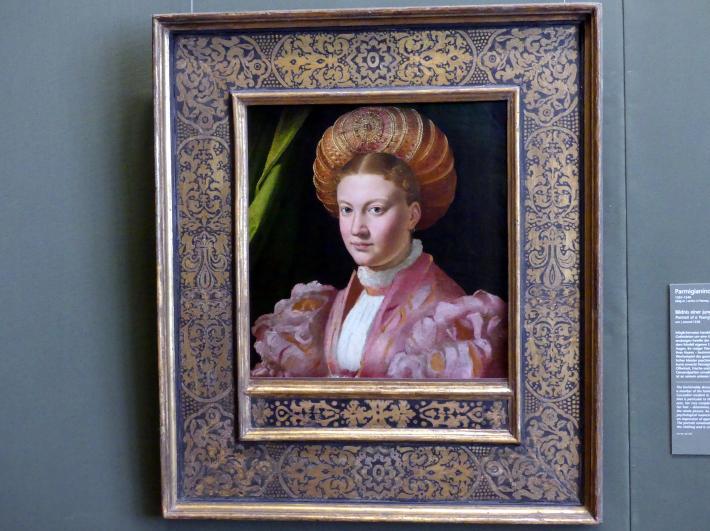 Parmigianino (Girolamo Francesco Maria Mazzola): Bildnis einer jungen Dame, um 1530