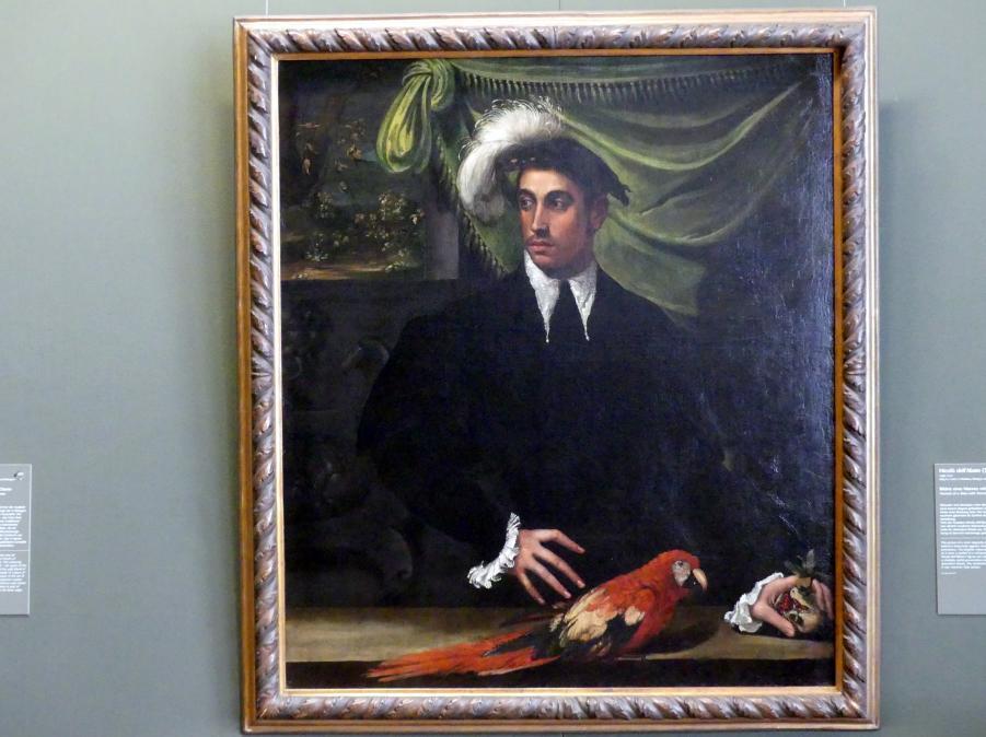 Nicolò dell'Abate: Bildnis eines Mannes mit Papagei, Undatiert