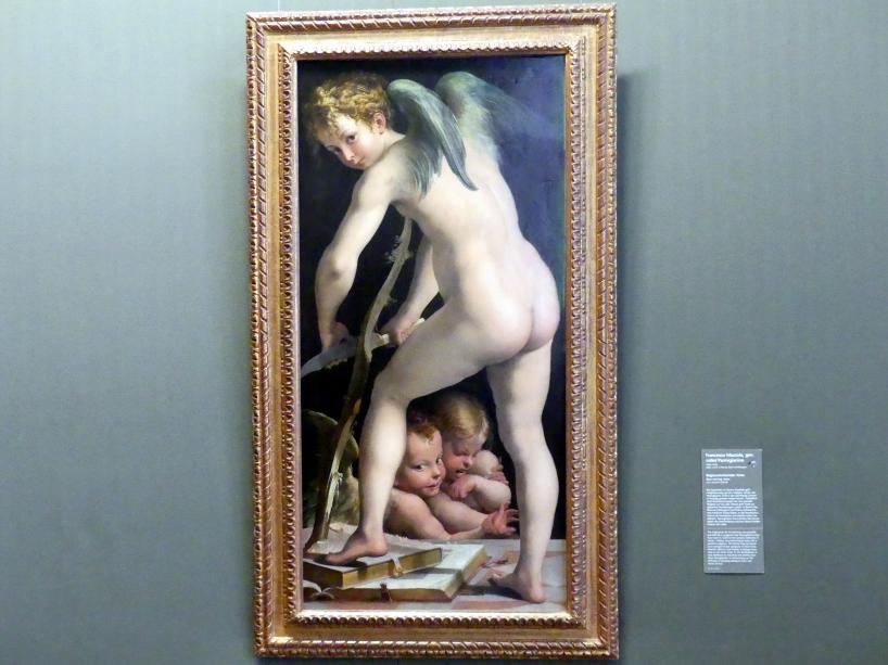 Parmigianino (Girolamo Francesco Maria Mazzola): Bogenschnitzender Amor, um 1534 - 1539