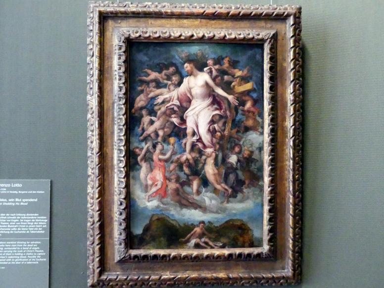 Lorenzo Lotto: Christus, sein Blut spendend, 1543