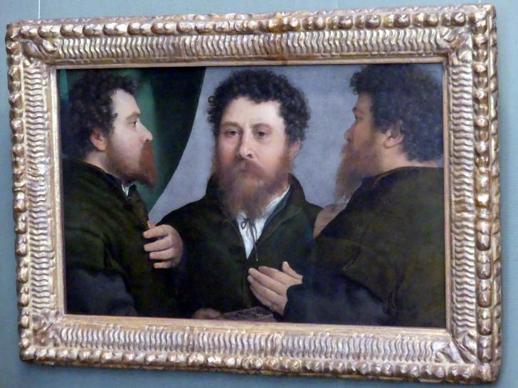 Lorenzo Lotto: Goldschmied in drei Ansichten, um 1525 - 1535