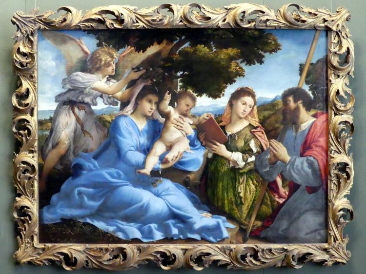 Lorenzo Lotto: Maria mit Kind und den hll. Katharina und Jakobus d.Ä., um 1527 - 1533
