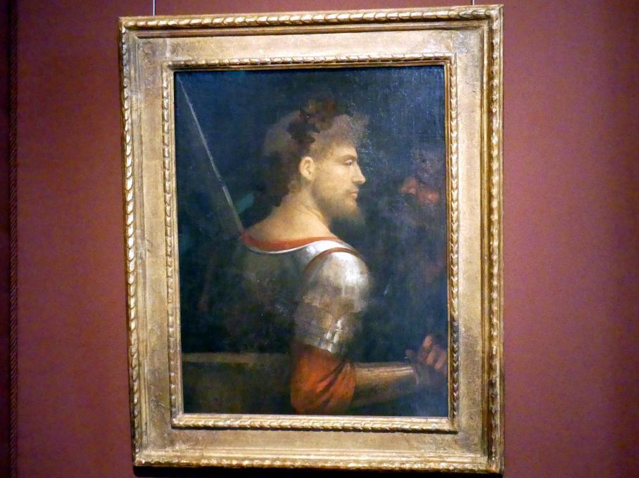Giorgio da Castelfranco (Giorgione): Bildnis eines Kriegers, um 1505 - 1510