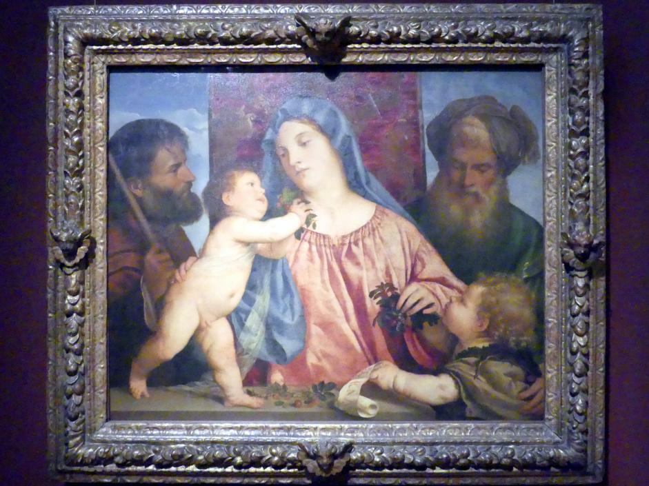 Tiziano Vecellio (Tizian): Kirschenmadonna, um 1516 - 1518