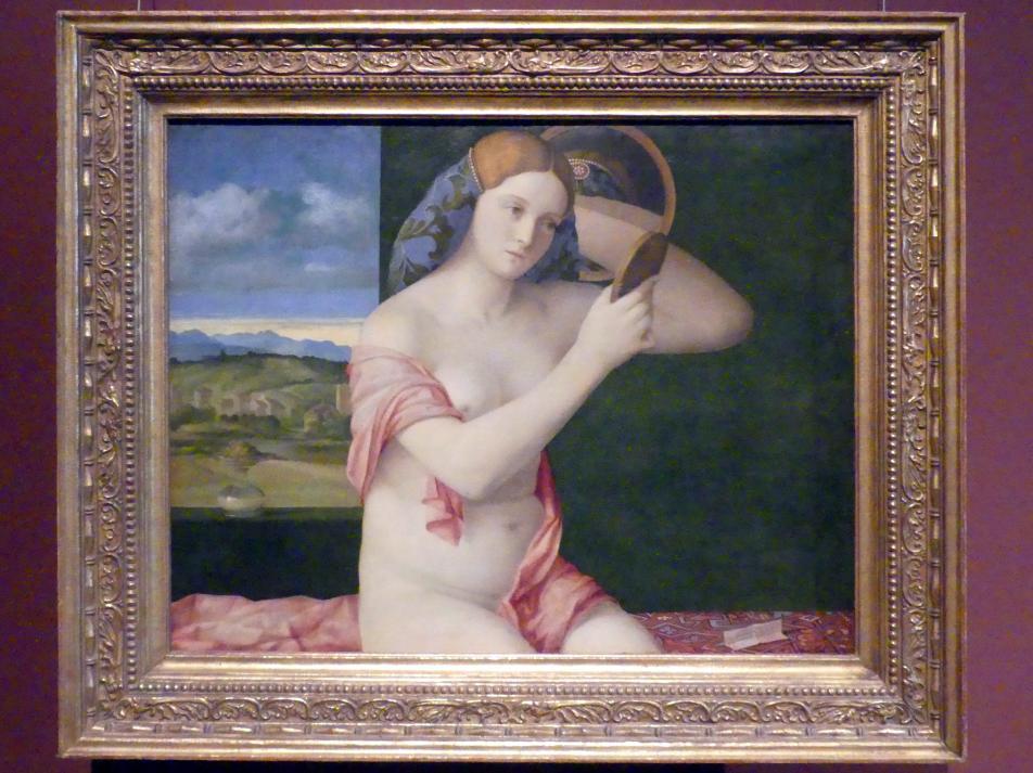 Giovanni Bellini: Junge Frau bei der Toilette, 1515