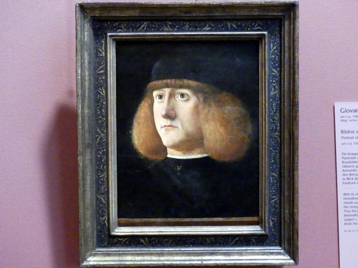 Giovanni di Niccolò Mansueti: Bildnis eines jungen Mannes, um 1500