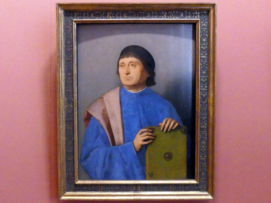 Vincenzo Catena: Bildnis eines Mannes mit Buch, Um 1520