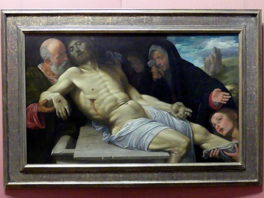 Giovanni Girolamo Savoldo (Girolamo da Brescia): Beweinung Christi, Um 1513 - 1520