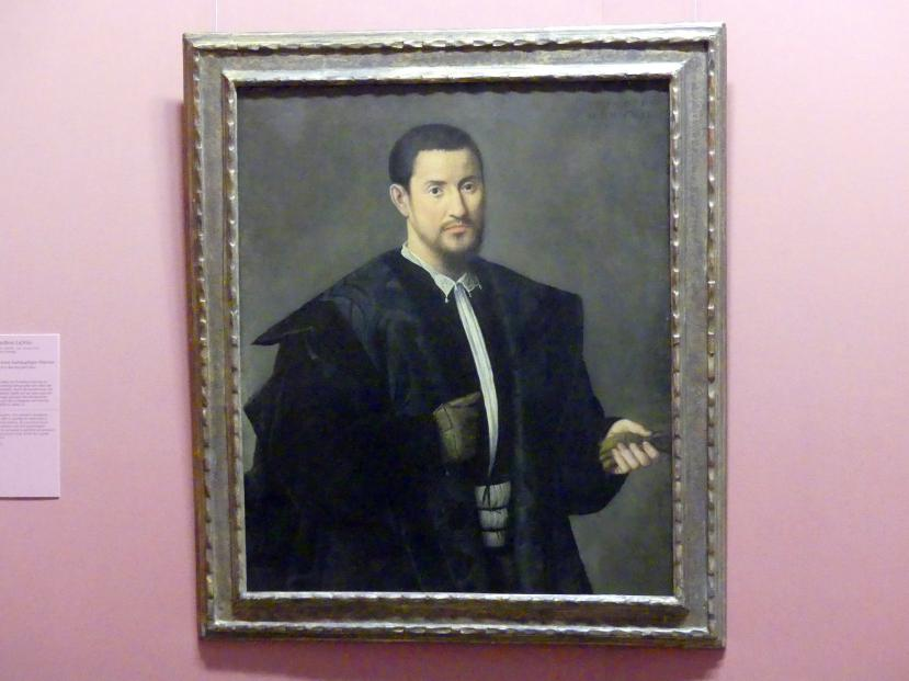 Bernardino Licinio: Bildnis eines barhäuptigen Mannes, 1532