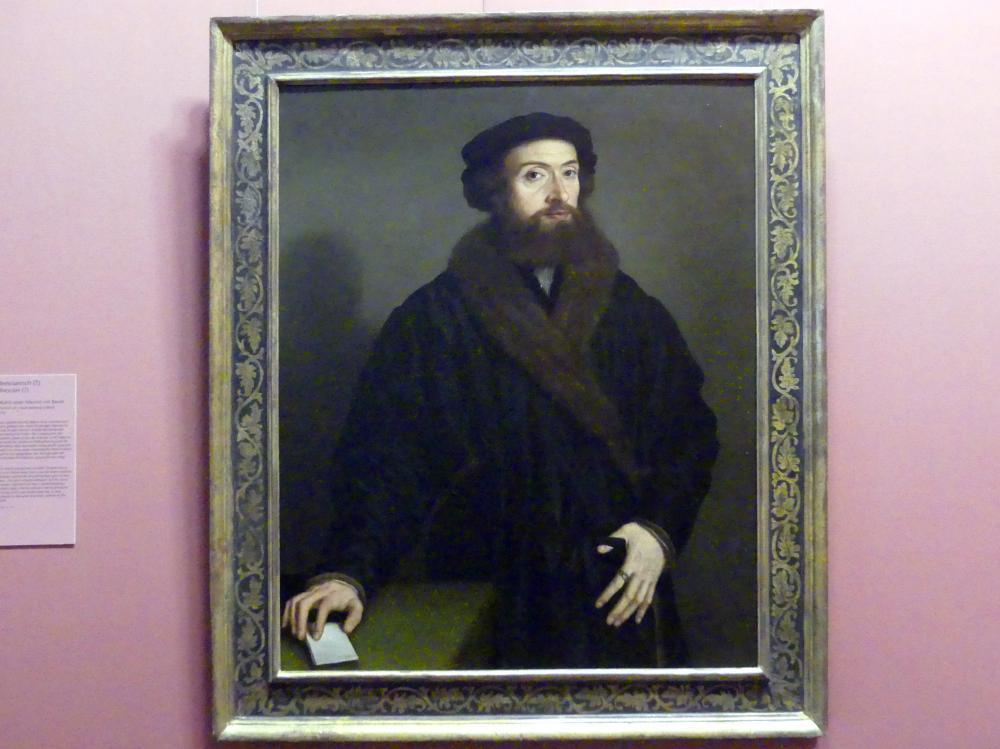 Bildnis eines Mannes mit Barett, 1538