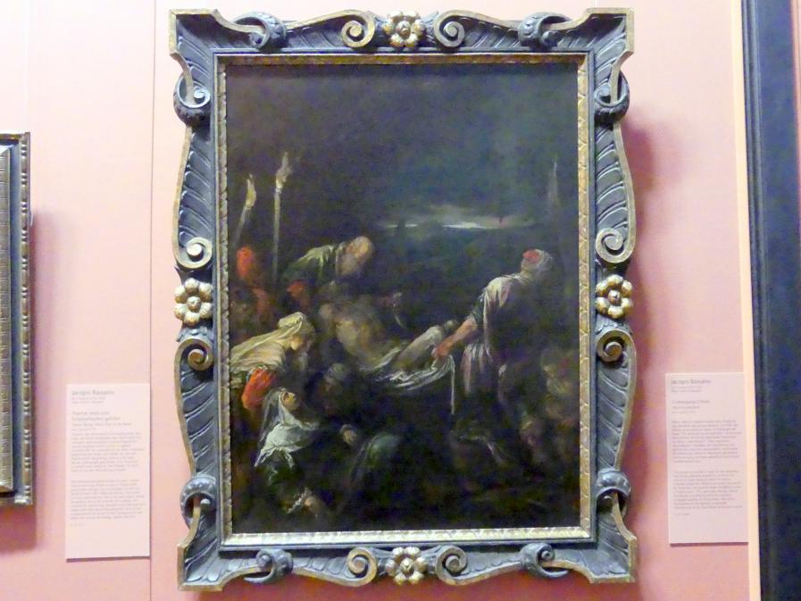 Jacopo Bassano (da Ponte): Grablegung Christi, Um 1575