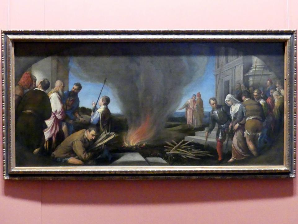 Jacopo Bassano (da Ponte): Thamar wird zum Scheiterhaufen geführt, Um 1575