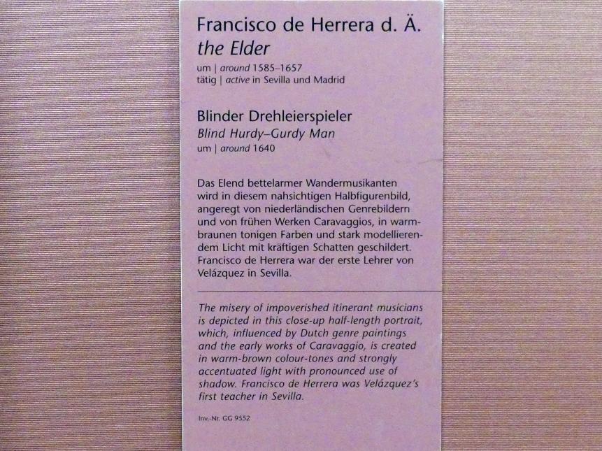 Francisco de Herrera der Ältere: Blinder Drehleierspieler, um 1640, Bild 2/2