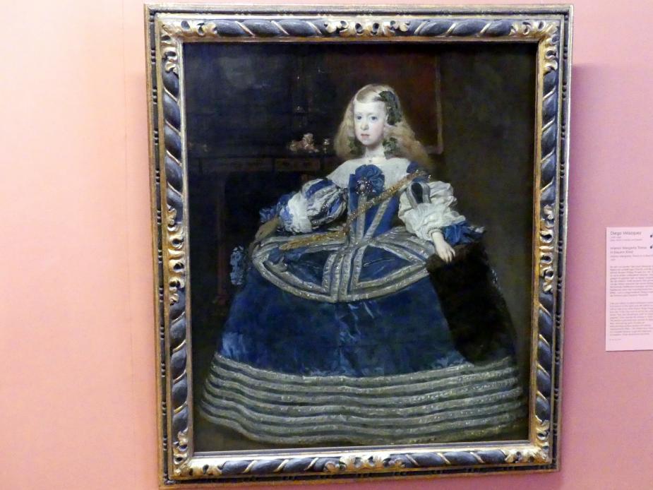 Diego Rodríguez de Silva y Velázquez: Infantin Margarita Teresa in blauem Kleid, 1659
