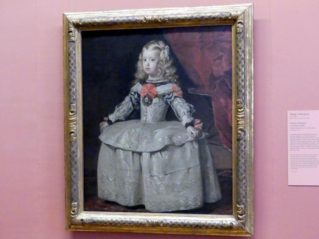 Diego Rodríguez de Silva y Velázquez: Infantin Margarita  in weißem Kleid, um 1656
