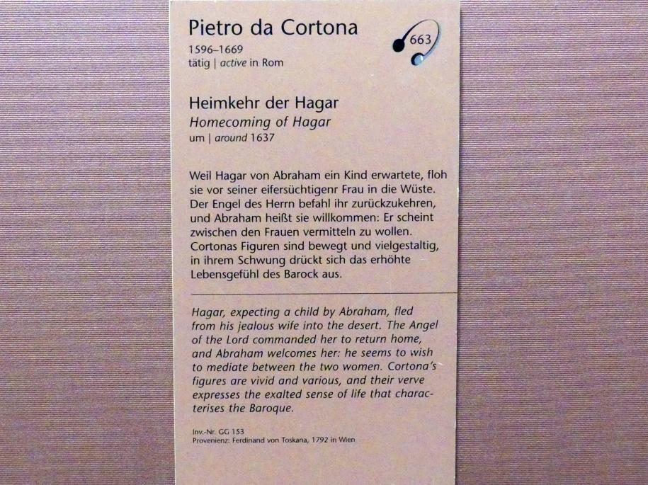Pietro da Cortona: Heimkehr der Hagar, um 1637, Bild 2/2