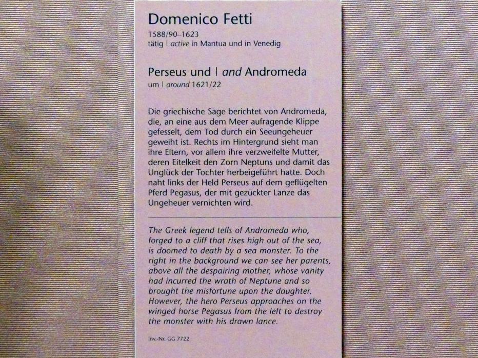 Domenico Fetti: Perseus und Andromeda, Um 1621 - 1622