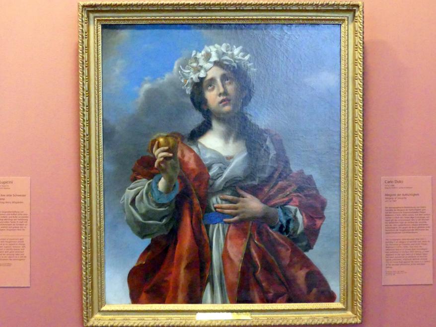 Carlo Dolci: Allegorie der Aufrichtigkeit, um 1665