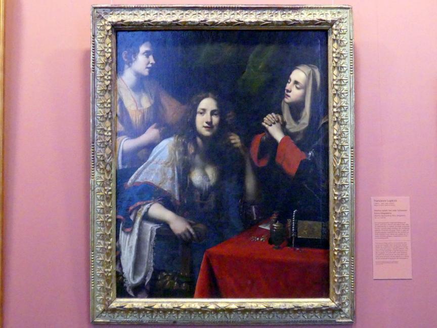 Francesco Lupicini: Martha tadelt ihre eitle Schwester Maria Magdalena, um 1625 - 1630