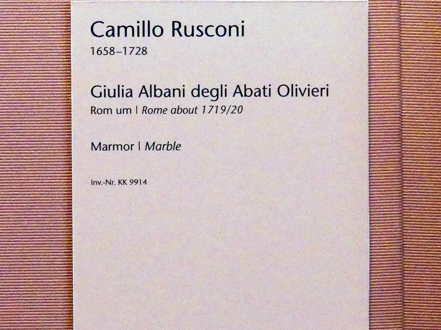 Camillo Rusconi: Giulia Albani degli Abati Olivieri, um 1719 - 1720, Bild 5/5