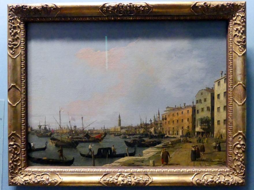 """Giovanni Antonio Canal (""""Canaletto""""): Die Riva degli Schiavoni in Venedig, um 1724 - 1730"""