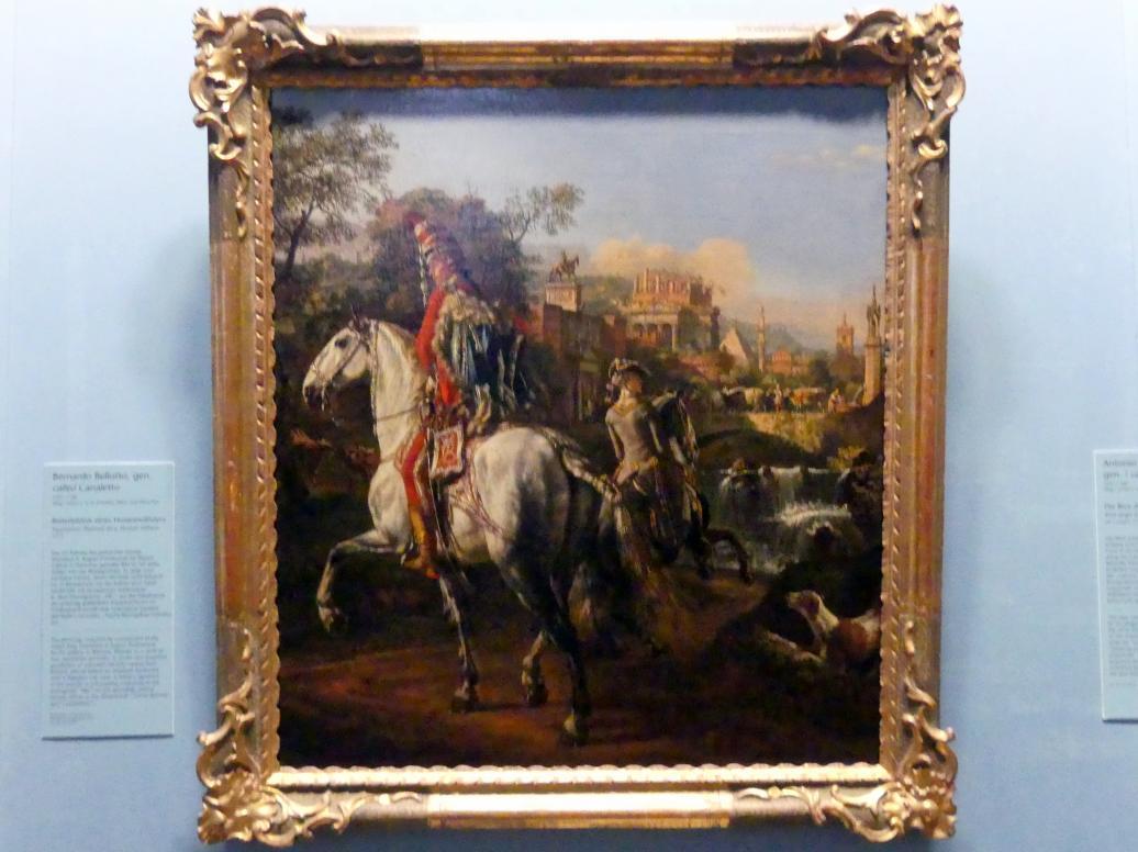 Bernardo Bellotto (Canaletto): Reiterbildnis eines Husarenoffiziers, 1773
