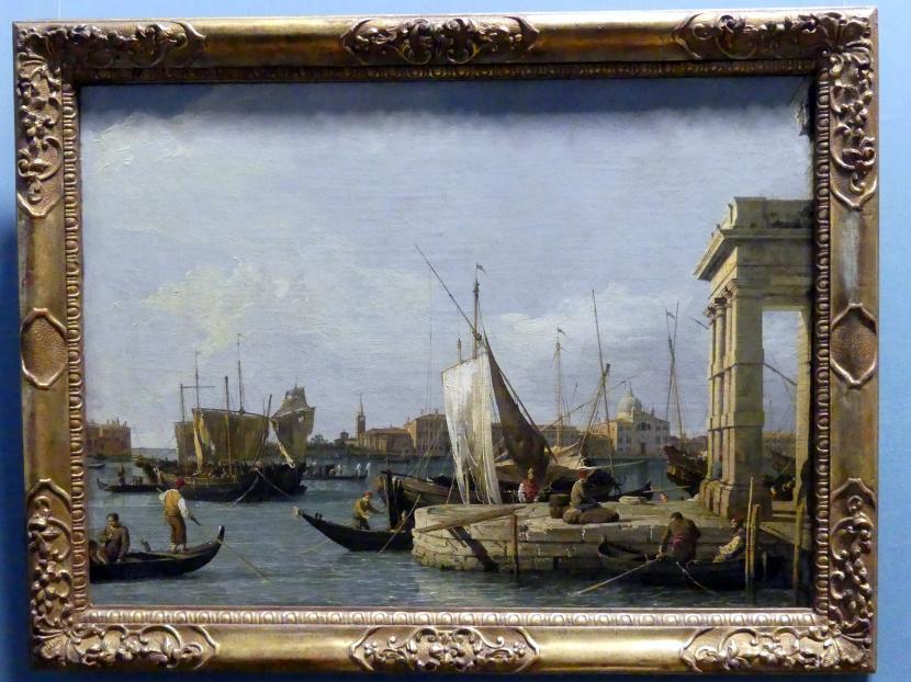 "Giovanni Antonio Canal (""Canaletto""): Die Dogana in Venedig, um 1724 - 1730"