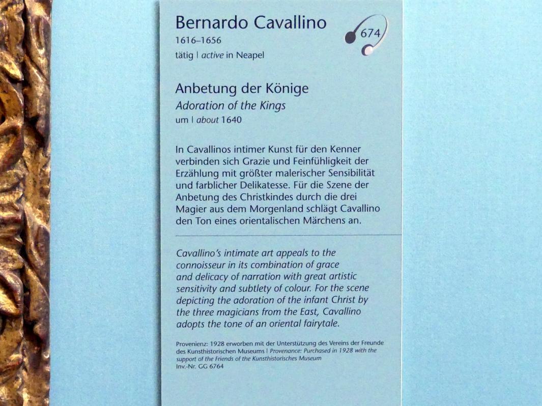 Bernardo Cavallino: Anbetung der Könige, um 1640, Bild 2/2