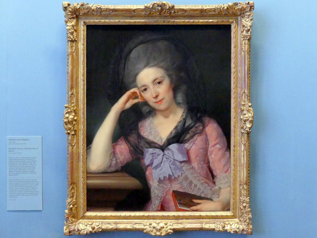 Anton von Maron: Elisabeth Hervey, Marchioness of Bristol, um 1778 - 1779