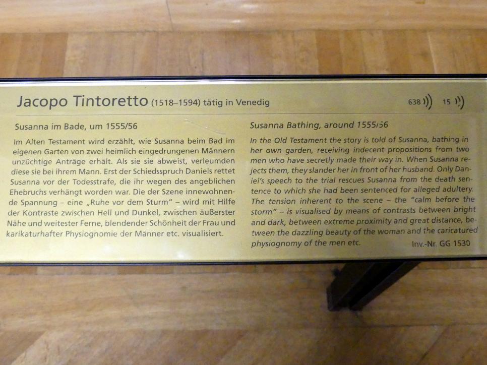 Jacopo Robusti (Tintoretto): Susanna im Bade, Um 1555 - 1556