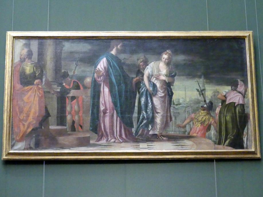 Paolo Caliari (Veronese): Christus und die Ehebrecherin, um 1585