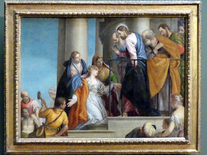 Paolo Caliari (Veronese): Erweckung des Jünglings Nain, um 1565 - 1570