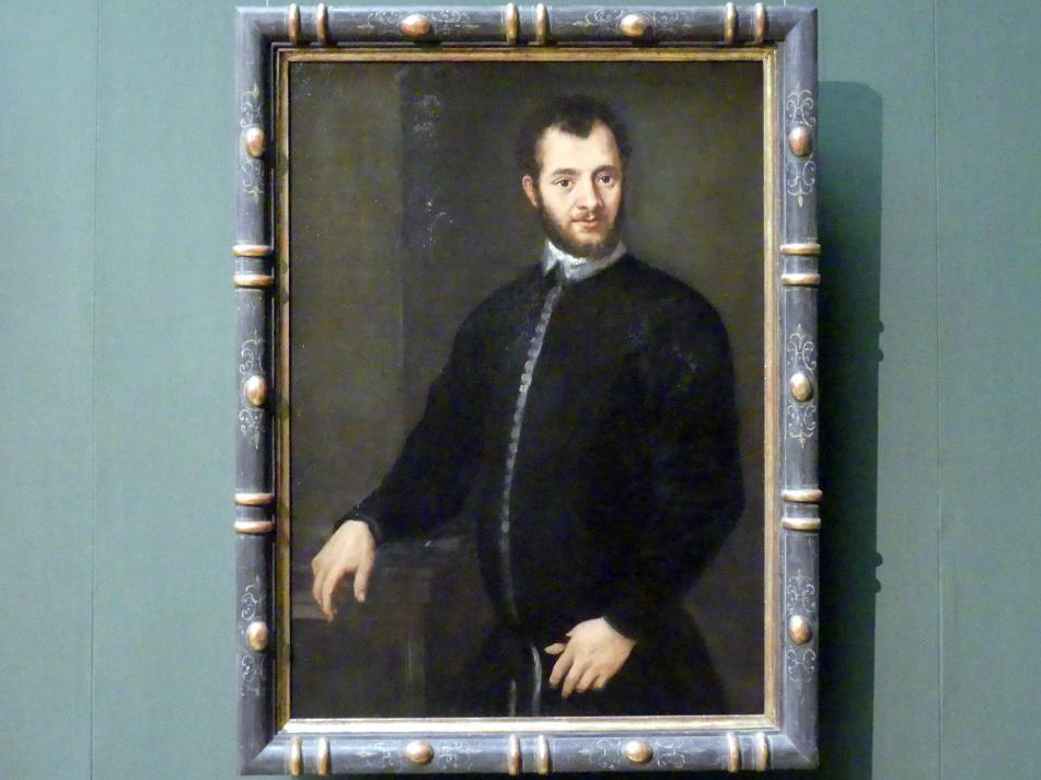 Paolo Veronese (Werkstatt): Bildnis eines jungen Mannes in Schwarz, um 1580