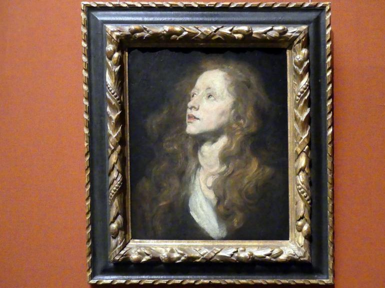 Anthonis (Anton) van Dyck: Kopfstudie einer emporblickenden Frau, um 1618 - 1620