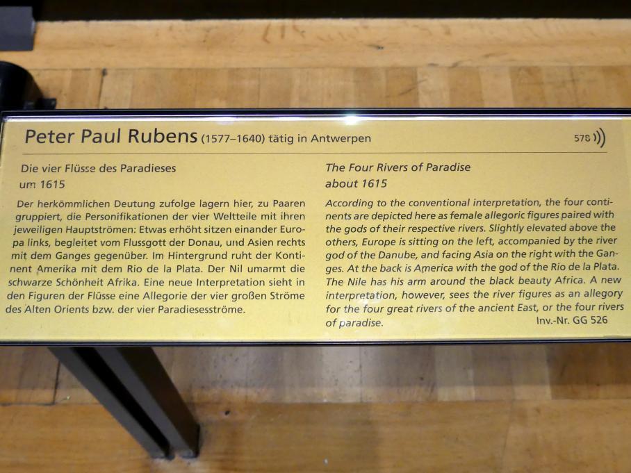 Peter Paul Rubens: Die vier Flüsse des Paradieses, Um 1615