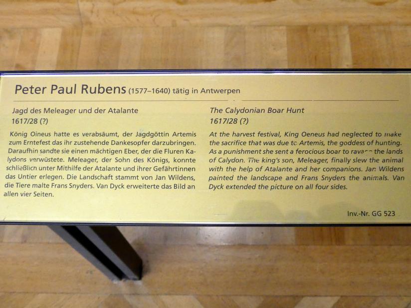 Peter Paul Rubens: Jagd des Meleager und der Atalante, Um 1617 - 1628