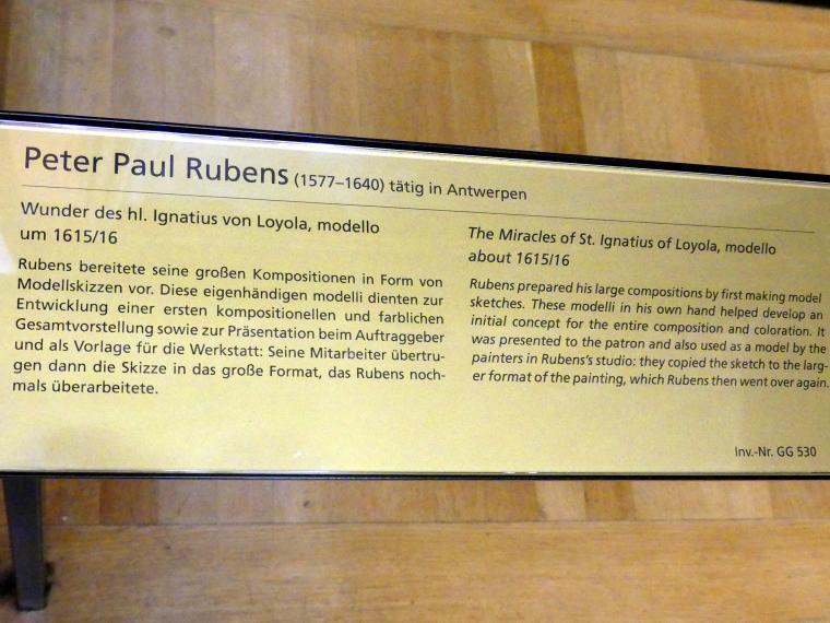 Peter Paul Rubens: Wunder des hl. Ignatius von Loyola, modello, um 1615 - 1616, Bild 2/2