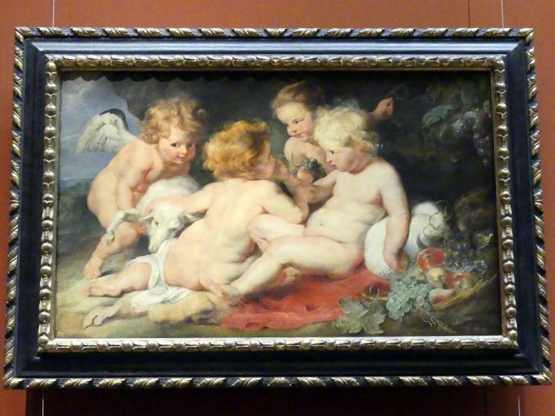 Peter Paul Rubens: Christuskind mit Johannes und zwei Engeln, um 1615 - 1620