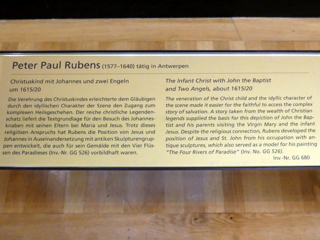 Peter Paul Rubens: Christuskind mit Johannes und zwei Engeln, um 1615 - 1620, Bild 2/2