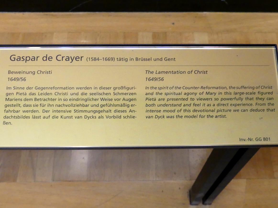 Gaspar de Crayer: Beweinung Christi, 1649 - 1656